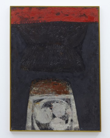 "Kumi Sugai, ""KURO"", 1957, oil on canvas, 31 1/2 x 22 53/64 in. (80.0 x 58.0 cm) © Kumi Sugai"