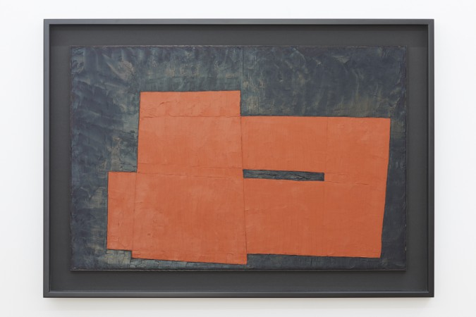 "Takeo Yamaguchi, ""Combination of Forms"", 1962, oil on plywood, 61.5 x 91.7 cm."